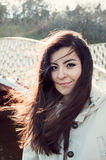 Young beautiful Turkish woman smiling Royalty Free Stock Photo
