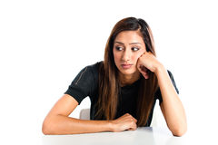 Young beautiful unhappy Asian Indian teenager Stock Photography
