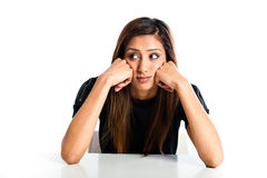 Young beautiful unhappy Asian Indian teenager Stock Photo