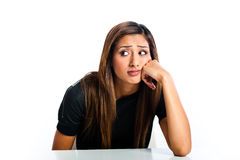Young beautiful unhappy Asian teen Stock Image