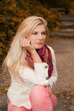 Young Beautiful Unhappy Depressed Woman Royalty Free Stock Photos