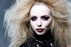 Young beautiful vampire Stock Photography