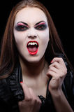 Young beautiful vampire woman Royalty Free Stock Photography