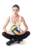 Young beautiful volleyball player Royalty Free Stock Images