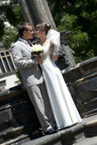 Young beautiful wedding pair the man and the woman Royalty Free Stock Image