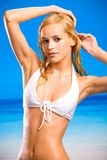 Young beautiful wet woman stock image