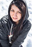 Young beautiful winter woman Royalty Free Stock Image