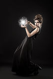Young Beautiful Witch. Stock Photos