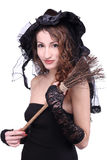 Young and beautiful witch Royalty Free Stock Photography