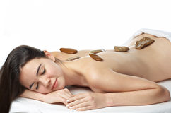 Young beautiful woman. In a spa Royalty Free Stock Image