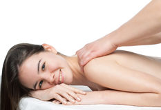 Young beautiful woman. In a spa Royalty Free Stock Photos