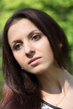 Young beautiful woman. Portrait of young beautiful woman stock photo