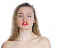 Young beautiful woman with bare shoulders royalty free stock image
