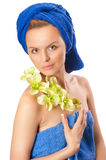Young beautiful woman after bath Royalty Free Stock Images
