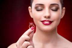 The young beautiful woman in beauty fashion concept Stock Photos