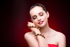 The young beautiful woman in beauty fashion concept Stock Photo