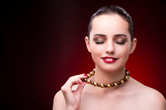 The young beautiful woman in beauty fashion concept Royalty Free Stock Images