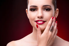 The young beautiful woman in beauty fashion concept Royalty Free Stock Photos
