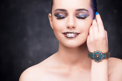 The young beautiful woman in beauty fashion concept Royalty Free Stock Photography