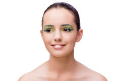 The young beautiful woman in beauty fashion concept Royalty Free Stock Photo