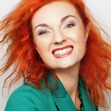 Young beautiful woman with big happy smile Stock Photography