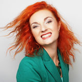 Young beautiful woman with big happy smile Stock Photo