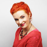 Young beautiful woman with big happy smile Royalty Free Stock Photography