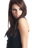 Young beautiful woman in black Stock Photography