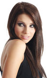 Young beautiful woman in black Royalty Free Stock Image