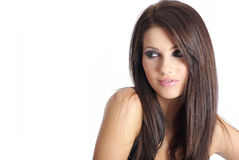 Young beautiful woman in black Stock Photos