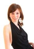 Young beautiful woman in black dress Stock Photo