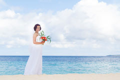 Young beautiful woman bride in wedding dress Stock Image