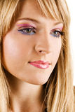 Young beautiful woman with bright makeup Royalty Free Stock Photo