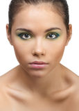Young beautiful woman with bright makeup Stock Photo