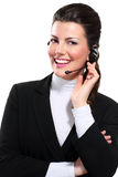 Young beautiful  woman call center Stock Photo