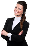 Young beautiful  woman call center Stock Photography