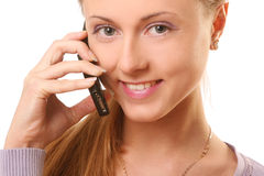 Young and beautiful woman calling by phone Stock Photo