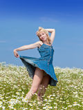 The flirting young woman Stock Images