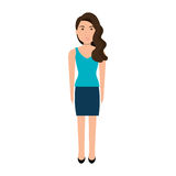 Young and beautiful woman cartoon. Stock Photography