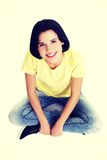 Young beautiful woman in casual clothes.  Stock Photography