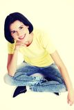 Young beautiful woman in casual clothes.  Royalty Free Stock Photography