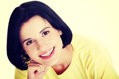 Young beautiful woman in casual clothes.  Royalty Free Stock Photo