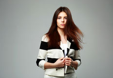 Young beautiful woman in casual clothes Royalty Free Stock Photo