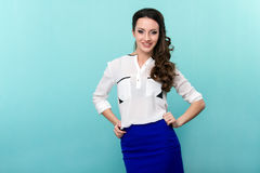 Young beautiful woman in casual wear with fashion Royalty Free Stock Photography