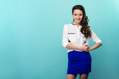 Young beautiful woman in casual wear with fashion Stock Image