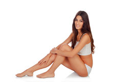 Young beautiful woman in cotton underwear Royalty Free Stock Photo