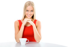 Young beautiful woman with a cup tea Royalty Free Stock Photography