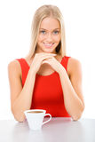 Young beautiful woman with a cup tea Royalty Free Stock Photos