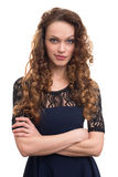 Young beautiful woman with curly hair Stock Image