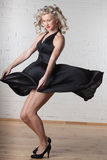 Young beautiful woman is dancing. Stock Image